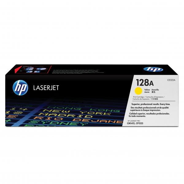 HP originál toner CE322A, yellow, 1300str., HP 128A, HP LaserJet Pro CP1525n, 1525nw, CM1415fn, 1415fnw, O