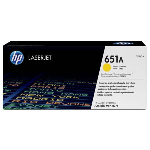 HP originál toner CE342A, yellow, 16000str., HP 651A, HP LaserJet Enterprise 700 color MFP M775dn, M775f, O