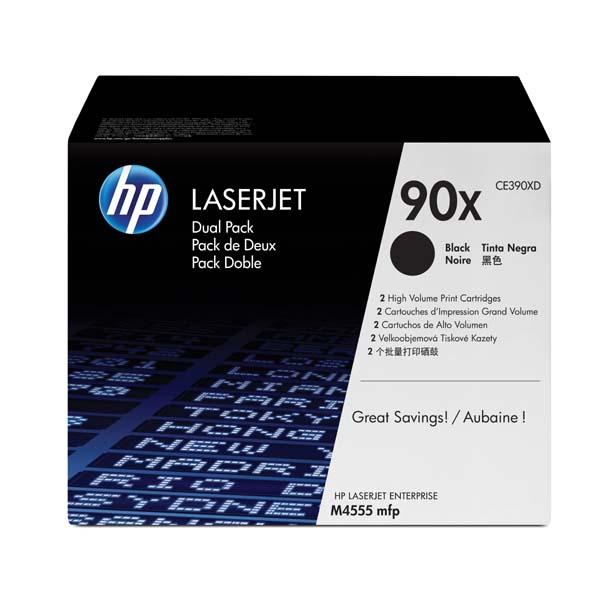 HP originál toner CE390XD, black, 24000str., HP 90X, HP Enterprise M602dn, M602n, M602x, M 603dn, M603n, dual pack, O