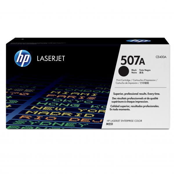 HP originál toner CE400A, black, 5500str., HP 507A, HP LaserJet Enterprise 500 color M551, O