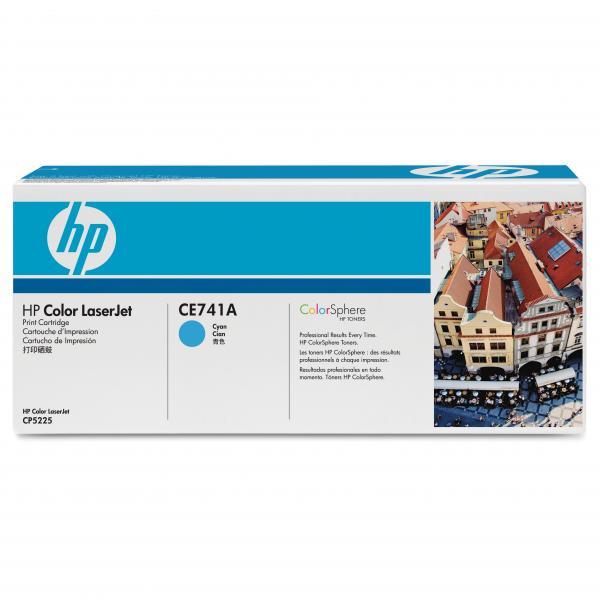 HP originál toner CE741A, cyan, 7300str., HP 307A, HP Color LaserJet CP5225, O