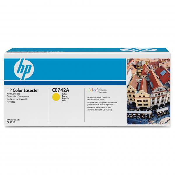 HP originál toner CE742A, yellow, 7300str., HP 307A, HP Color LaserJet CP5225, O
