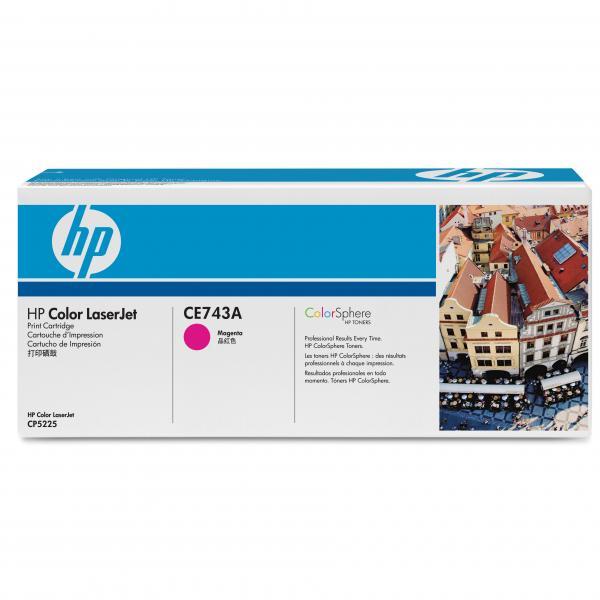 HP originál toner CE743A, magenta, 7300str., HP 307A, HP Color LaserJet CP5225, O
