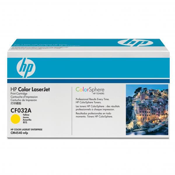 HP originál toner CF032A, yellow, 12500str., HP 646A, HP Color LaserJet CM4540, 4540f, 4540fskm, O