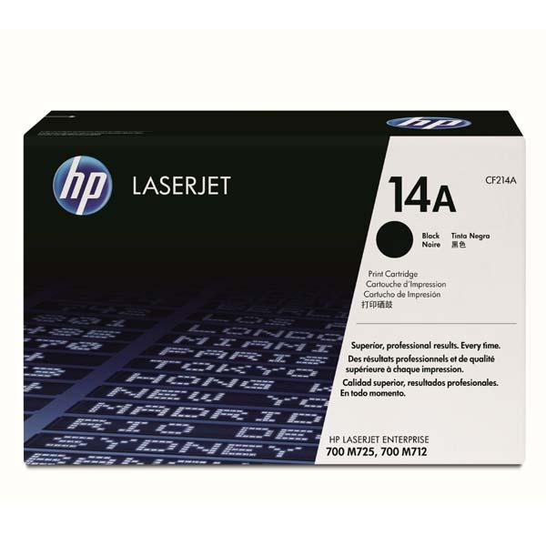 HP originál toner CF214A, black, 10000str., HP 14A, HP LaserJet Enterprise 700 M712, O
