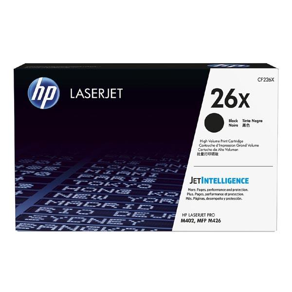HP originál toner CF226X, black, 9000str., HP 26X, high capacity, HP LaserJet Pro M402, Pro MFP M426, 930g, O