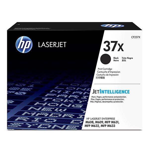 HP originál toner CF237X, black, 25000str., HP 37X, high capacity, HP LaserJet Enterprise M608, M609, O