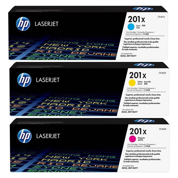 HP originál toner CF253XM, CMY, 6900 (3x2300)str., HP 201X, HP Color LaserJet MFP M277, Pro M252, M274, 3ks, O