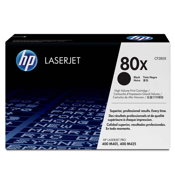 HP originál toner CF280X, black, 6900str., HP 80X, HP LaserJet+, N, 1050g, O