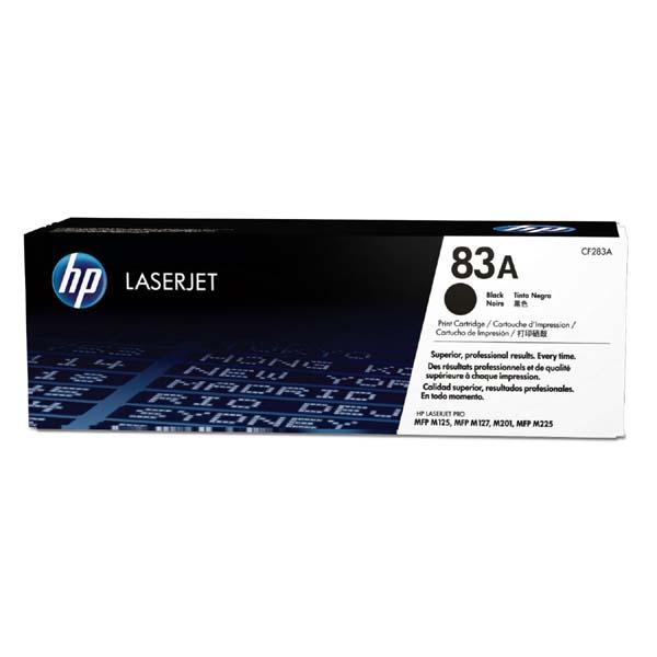 HP originál toner CF283A, black, 1500str., HP 83A, HP LJ Pro M201dw,201n,MFP M125a,125nrw,127fn,225,127, 830g, O
