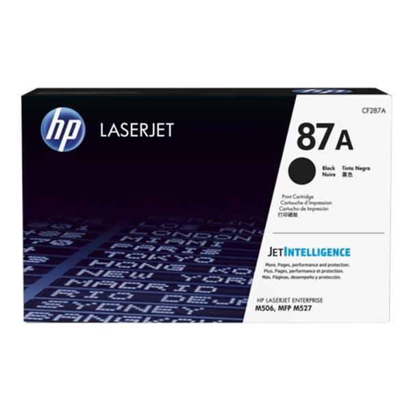 HP originál toner CF287A, black, 8550str., HP 87A, HP LJ Enterprise M506, HP LJ Pro MFP M527, M501n, 930g, O