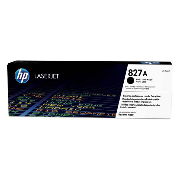 HP originál toner CF300A, black, 29500str., HP 827A, HP Color LaserJet MFP M880z, 850g, O