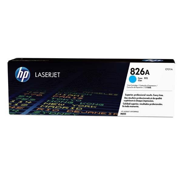 HP originál toner CF311A, cyan, 31500str., HP 826A, HP Color LaserJet Enterprise M855dn, M855x+, M855x+, O