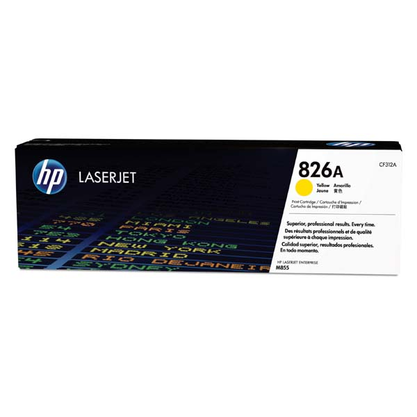 HP originál toner CF312A, yellow, 31500str., HP 826A, HP Color LaserJet Enterprise M855dn, M855x+, M855x+, O