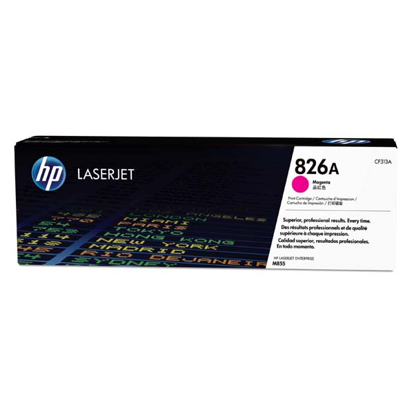 HP originál toner CF313A, magenta, 31500str., HP 826A, HP Color LaserJet Enterprise M855dn, M855x+, M855x+, O