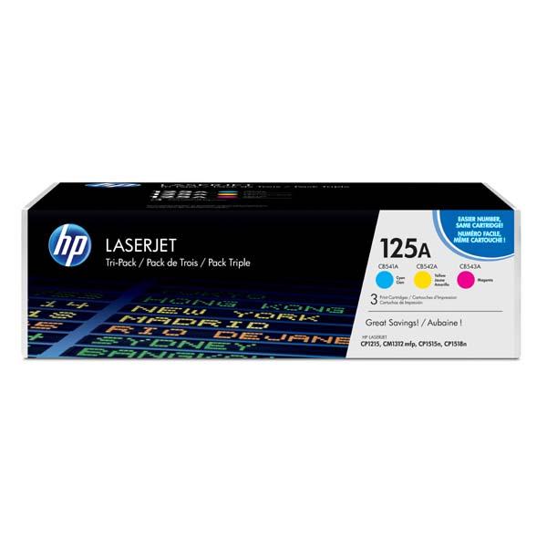 HP originál toner CF373AM, CMY, 4200 (3x1400)str., HP 125A, HP Color LaserJet CP1215, CP1515, CP1518ni, 3x800g, 3ks, O