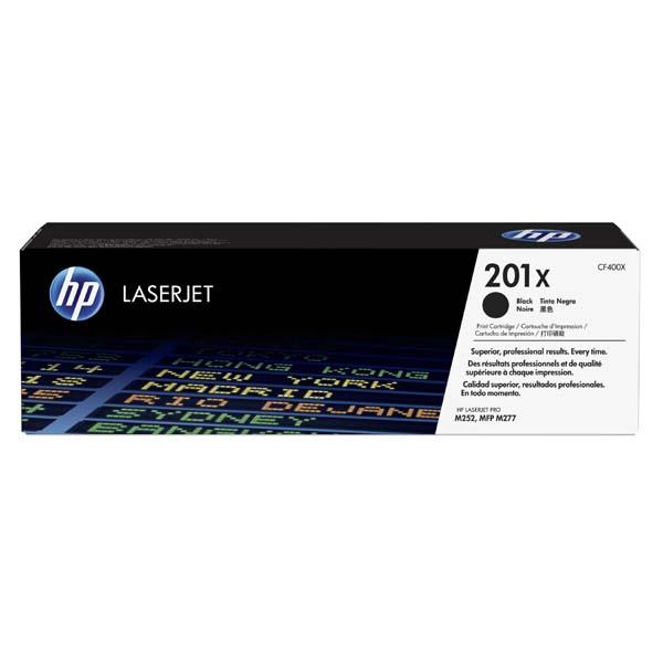 HP originál toner CF400X, black, 2800str., HP 201X, HP Color LaserJet MFP 277, Pro M252, 770g, O