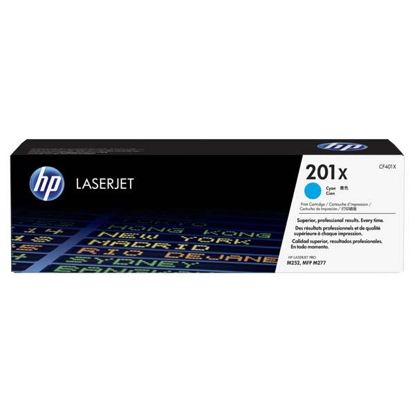 HP originál toner CF401X, cyan, 2300str., HP 201X, HP Color LaserJet MFP 277, Pro M252, 770g, O