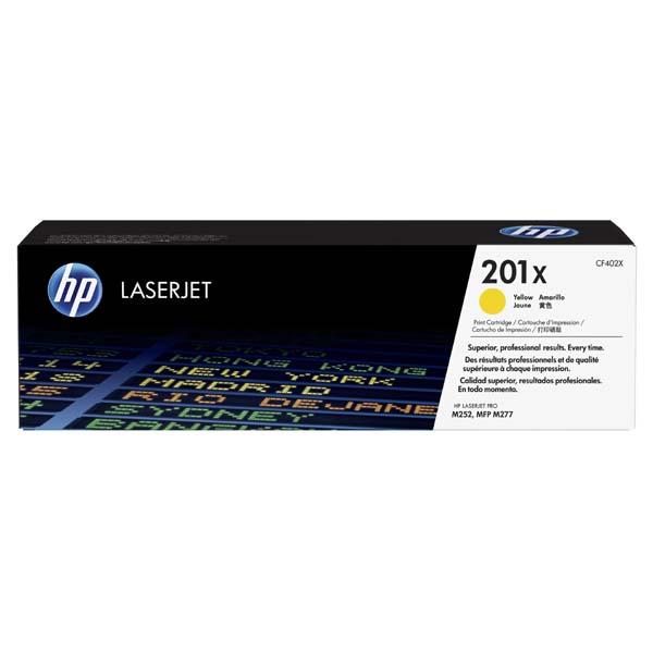 HP originál toner CF402X, yellow, 2300str., HP 201X, HP Color LaserJet MFP 277, Pro M252, 770g, O
