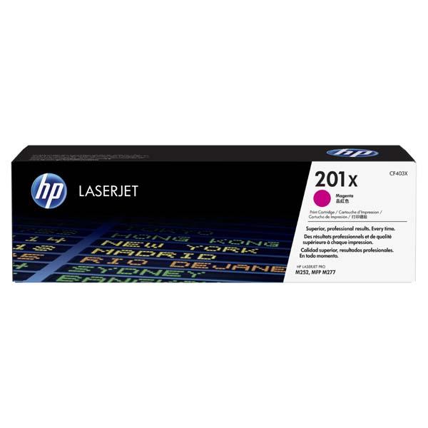 HP originál toner CF403X, magenta, 2300str., HP 201X, HP Color LaserJet MFP 277, Pro M252, 770g, O