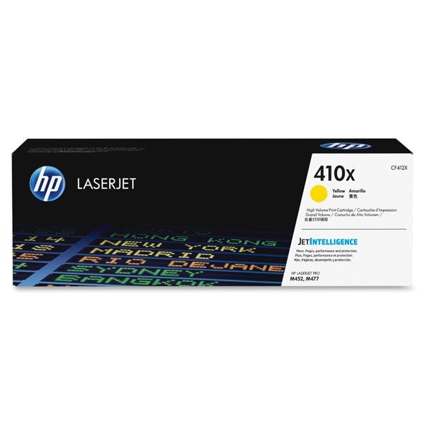 HP originál toner CF412X, yellow, 5000str., HP 410X, high capacity, HP LJ Pro M452, LJ Pro MFP M477, 650g, O