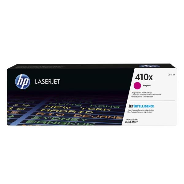 HP originál toner CF413X, magenta, 5000str., HP 410X, high capacity, HP LJ Pro M452, LJ Pro MFP M477, 650g, O