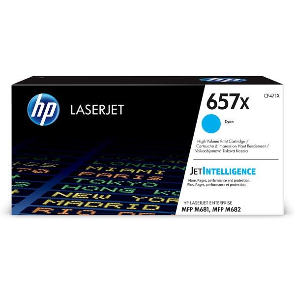 HP originál toner CF471X, cyan, 23000str., HP 657X, high capacity, HP LaserJet Enterprise MFP M681dh,MFP M681f,LaserJet, O