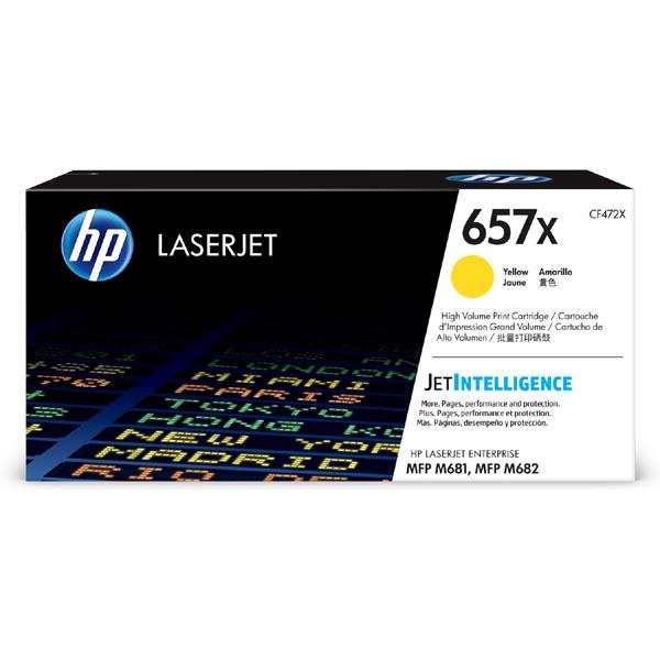 HP originál toner CF472X, yellow, 23000str., HP 657X, high capacity, HP LaserJet Enterprise MFP M681dh,MFP M681f,LaserJet, O