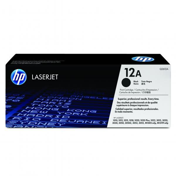 HP originál toner Q2612A, black, 2000str., HP 12A, HP LaserJet 1010, 1012, 1015, 1020, 1022, 3015, 3020, O