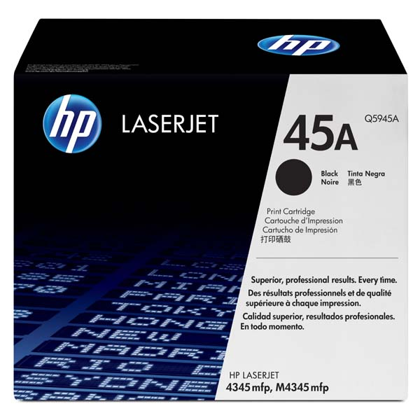 HP originál toner Q5945A, black, 18000str., HP 45A, HP LaserJet 4345mfp, M4345mfp, O