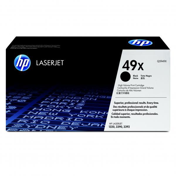 HP originál toner Q5949X, black, 6000str., HP 49X, high capacity, HP LaserJet 1320, 3390, 3392, O