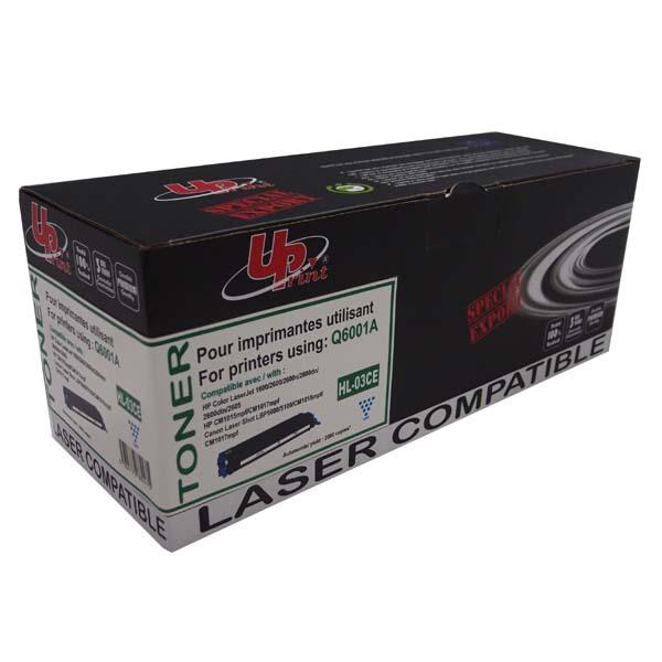 UPrint kompatibil. toner s Q6001A, cyan, 2000str., H.124ACE, HL-03CE, pre HP Color LaserJet 1600, 2600n, 2605, UPrint