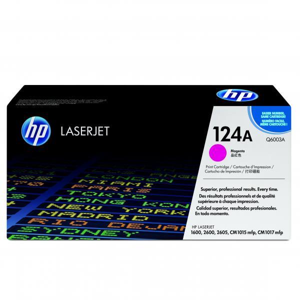 HP originál toner Q6003A, magenta, 2000str., HP 124A, HP Color LaserJet 1600, 2600n, 2605, O