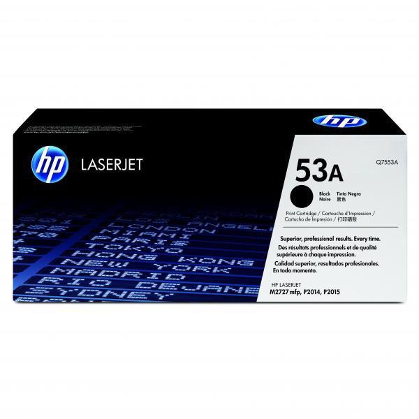 HP originál toner Q7553A, black, 3000str., HP 53A, HP LaserJet P2010, P2015, O
