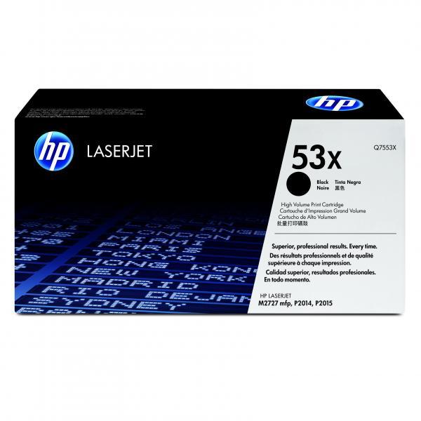 HP originál toner Q7553X, black, 7000str., HP 53X, HP LaserJet P2010, P2015, O