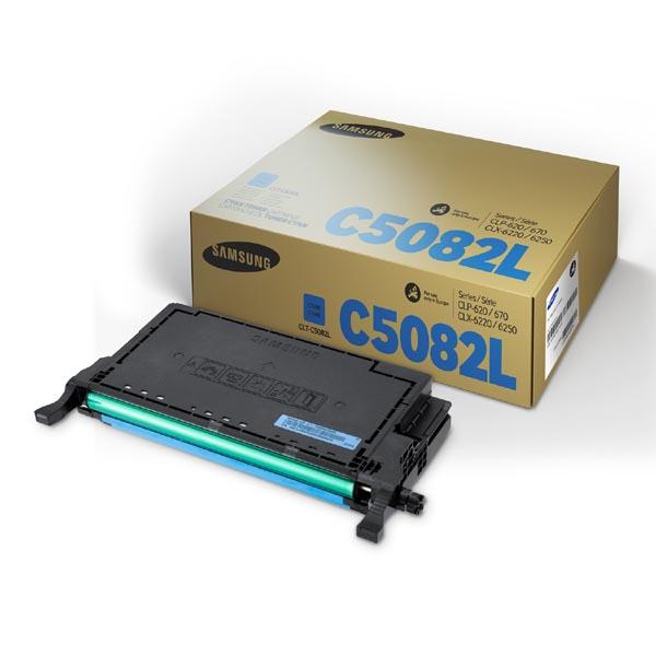 HP originál toner SU055A, CLT-C5082L, cyan, 4000str., C5082L, high capacity, Samsung CLP-620, CLP-670, CLX-6220, CLX-6250, O