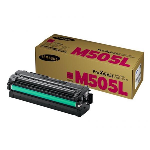 HP originál toner SU302A, CLT-M505L, magenta, 3500str., M505L, high capacity, Samsung ProXpress SL-C2620DW, SL-C2670FW, SL-C2680FX
