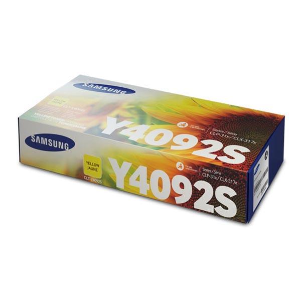 HP originál toner SU482A, CLT-Y4092S, yellow, 1000str., Y4092, Samsung CLP-310, 315, CLX-3170, 3175, O