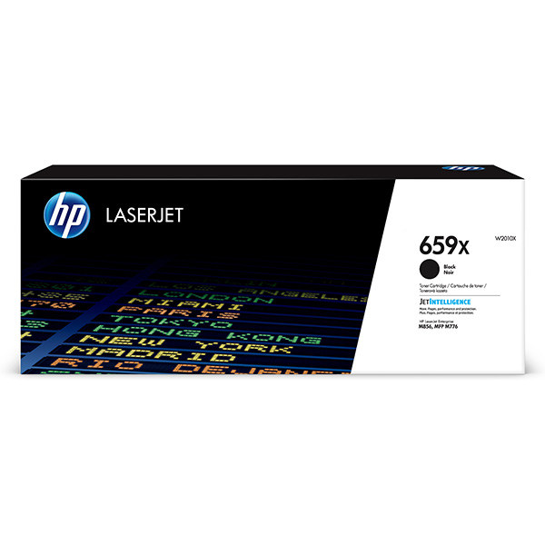 HP originál toner W2010X, black, 34000str., HP 659X, high capacity, HP Color LaserJet Enterprise M856dn,M856x,LaserJet En