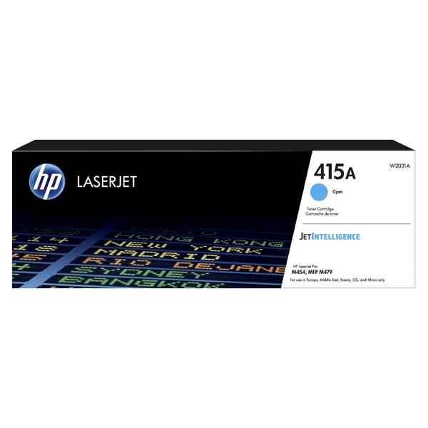 HP originál toner W2031A, cyan, 2100str., HP 415A, HP Color LaserJet Pro M454, MFP M479, O