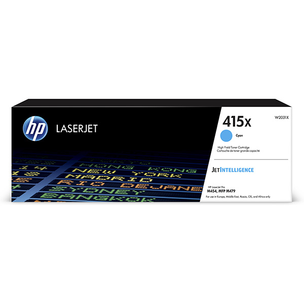 HP originál toner W2031X, cyan, 6000str., HP 415X, HP Color LaserJet Pro M454, MFP M479, O