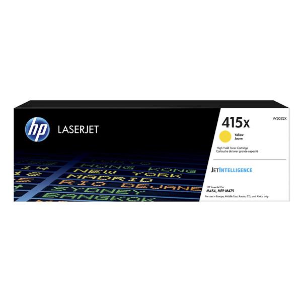 HP originál toner W2032X, yellow, 6000str., HP 415X, high capacity, HP Color LaserJet Pro M454, MFP M479, O