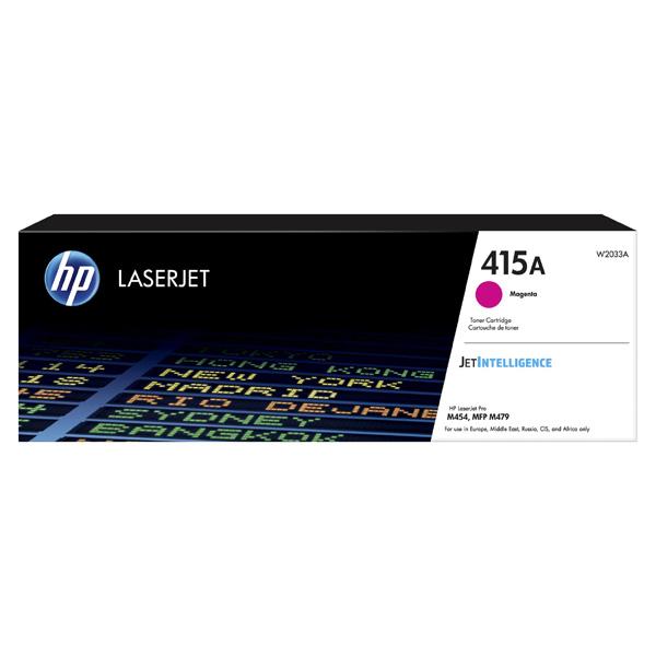 HP originál toner W2033A, magenta, 2100str., HP 415A, HP Color LaserJet Pro M454, MFP M479, O