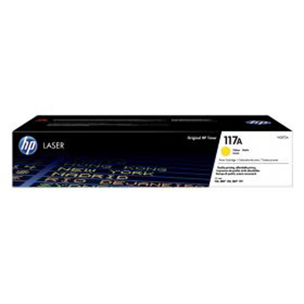 HP originál toner W2072A, yellow, 700str., HP 117A, HP Color Laser 150, MFP 178, MFP 179, O