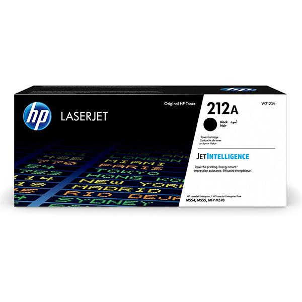 HP originál toner W2120A, black, 5500str., HP 212A, HP Color LaserJet Enterprise M555dn, M555x, M554dn, O