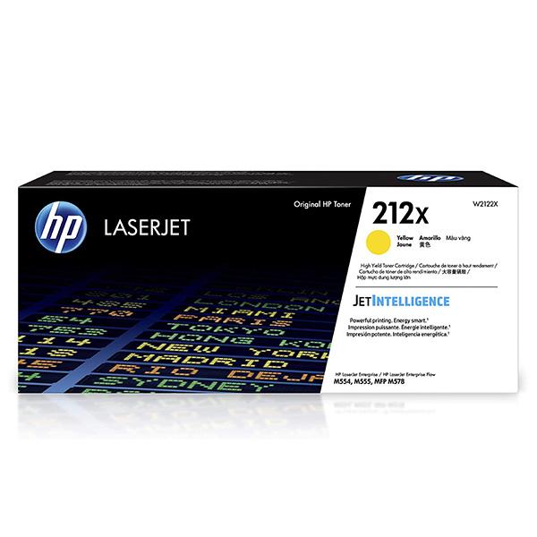 HP originál toner W2122X, yellow, 10000str., HP 212X, High Yield, HP Color LaserJet Enterprise M554dn,M555dn,M555x, O