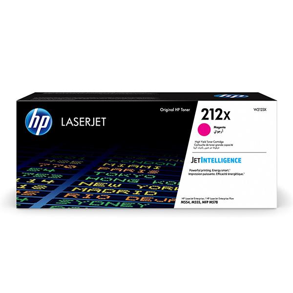 HP originál toner W2123X, magenta, 10000str., HP 212X, High Yield, HP Color LaserJet Enterprise M554dn,M555dn,M555x, O