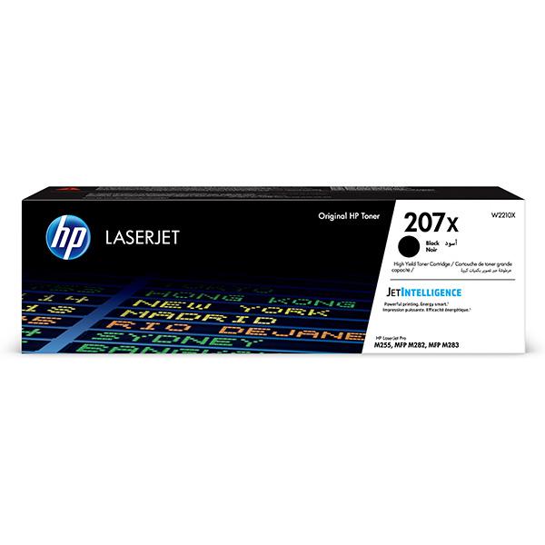 HP originál toner W2210X, black, 3150str., HP 207X, high capacity, HP Color LaserJet Pro M255, MFP M282, M283, O