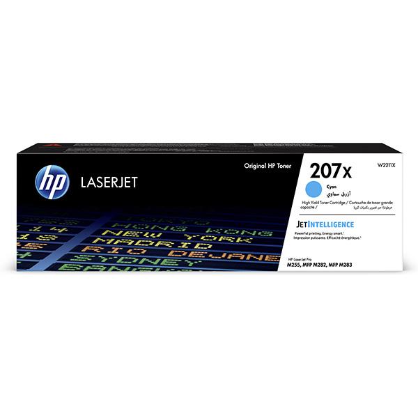 HP originál toner W2211X, cyan, 2450str., HP 207X, HP Color LaserJet Pro M255, MFP M282, M283, O