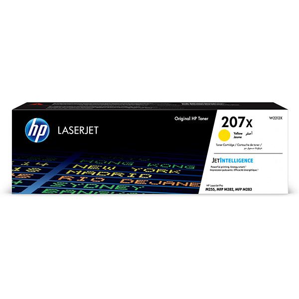 HP originál toner W2212X, yellow, 2450str., HP 207X, HP Color LaserJet Pro M255, MFP M282, M283, O